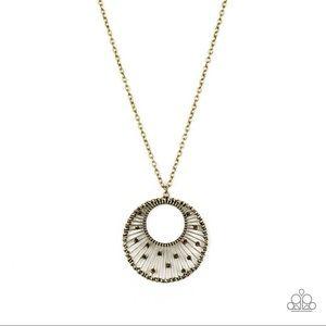 Urban Illumination brass necklace